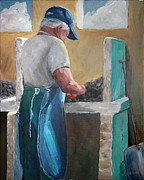 Susan Richardson Paintings - Apalachicolas Finest Oysters by Susan Richardson