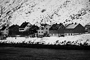 Apartment Houses Prints - Apartment Houses Strandgata Havoysund Finnmark Norway Europe Print by Joe Fox