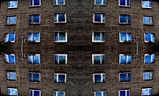 Shades Of Blues Framed Prints - Apartments in Berlin Framed Print by Andy Prendy