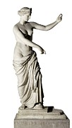 Antique Sculpture Framed Prints - Aphrodite Of Capua. 350 -330 Bc. Roman Framed Print by Everett
