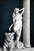 Lion Pastels - Aphrodite by Steve Ellenburg