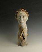 Head Sculpture Prints - Aphroditus Print by Yvonne Gerych