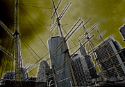Seaport Pyrography Framed Prints - Apocalypse at NYC Framed Print by Coqle Aragrev