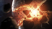 Destruction Digital Art - Apocalyptic Space Scene With An by Tobias Roetsch