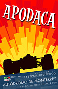 Rally Prints - Apodaca Monterrey Historic Vintage Festival Print by Nomad Art And  Design