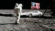 Staley Art Framed Prints - Apollo 11 and Lost Driver Framed Print by Chuck Staley