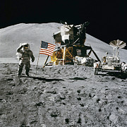 Apollo Prints - Apollo 15 Moon Landing Print by Digital Reproductions