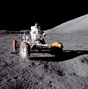 Movie Poster Prints Posters - Apollo 17 Moon Rover Ride Poster by Movie Poster Prints