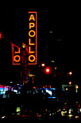 Broadway Digital Art Metal Prints - Apollo Theatre Neon Sign Metal Print by AdSpice Studios