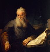 Portrait Of Old Man Posters - Apostle Paul Poster by Rembrandt