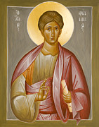Julia Bridget Hayes Painting Metal Prints - Apostle Philip Metal Print by Julia Bridget Hayes