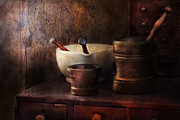Mortar Metal Prints - Apothecary - Pick a Pestle  Metal Print by Mike Savad