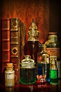Antique Books Prints - Apothecary - Vintage Jars and Potions Print by Paul Ward