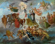 Abundance Paintings - Apotheosis of Napoleon III by Guillaume-Alphonse Harang Cabasson