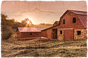 Red Roof Prints - Appalachian Barns Print by Debra and Dave Vanderlaan