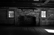 Log Cabin Art Photo Metal Prints - Appalachian fireplace Metal Print by David Lee Thompson
