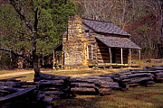 Mountain Cabin Photo Prints - Appalachian Homestead Print by Paul W Faust -  Impressions of Light