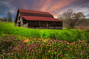Barns Posters - Appalachian Spring Poster by Debra and Dave Vanderlaan