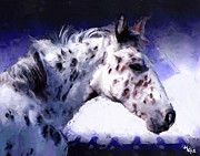 Cheetah Digital Art Prints - Appaloosa Pony Print by Roger D Hale