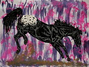 Wild Horse Drawings - Appaloosa - showing colors by Lucka SR