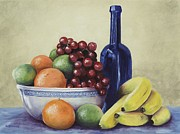 Yellow Bananas Paintings - Appeeling by Patricia Crowley