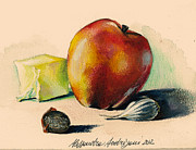 Italian Greeting Card Posters - Apple Poster by Alessandra Andrisani