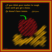Symmetrical Design Prints - Apple Bill Gates Quote Print by Barbara Snyder