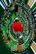 Apple Computer Abstract Print by Sandi OReilly
