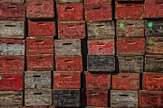 Packing Metal Prints - Apple Crates Metal Print by Garry Gay