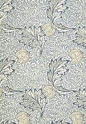 Apple Art Tapestries - Textiles Posters - Apple Design 1877 Poster by William Morris