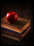 Library Framed Prints - Apple for Teacher Framed Print by Edward Fielding