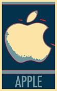Cartoon Apples Posters - APPLE in HOPE Poster by Rob Hans