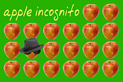 Health Food Digital Art Posters - Apple Incognito Poster by Natalie Kinnear