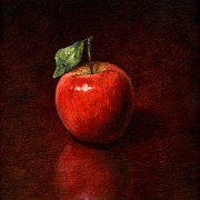 Oil Paint Framed Prints - Apple Framed Print by Mark Zelmer