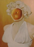 Portrait Of Marilyn Monroe Painting Originals - Apple Of Her Eye by Cherise Foster
