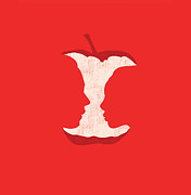 Red Digital Art Posters - Apple of my eyes Poster by Budi Satria Kwan