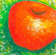 Food And Beverage Pastels - Apple by Ricardo Manabat