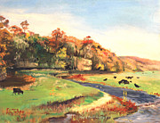 Mid West Landscape Art Posters - Apple River Valley IL. Autumn Poster by Art By Tolpo Collection