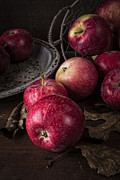 Basket Photo Metal Prints - Apple Still Life Metal Print by Edward Fielding