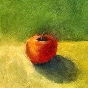 Olive Oil Posters - Apple Still Life No. 98 Poster by Michelle Calkins