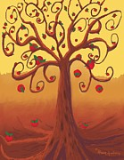 Tree Roots Digital Art Prints - Apple Tree Print by Dessie Durham