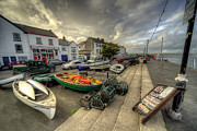 Lobster Pots Framed Prints - Appledore Quay  Framed Print by Rob Hawkins