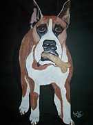 Boxer Painting Framed Prints - AppleJack Framed Print by Janice W Deetscreek