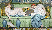 Two Women Prints - Apples Print by Albert Joseph Moore