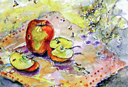 Ginette Fine Art Llc Ginette Callaway Framed Prints - Apples and Bees French Country Framed Print by Ginette Callaway