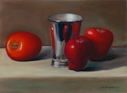 Jennifer Richards - Apples and metal cup