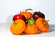 Cecil Fuselier Framed Prints - Apples and Pumpkins2 Framed Print by Cecil Fuselier