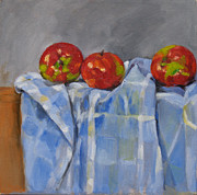 Becky Kim Painting Metal Prints - Apples Metal Print by Becky Kim