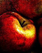 Round Metal Prints - Apples  Metal Print by Bob Orsillo