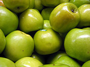 Green Apples Posters - Apples Poster by Colourscape Photography